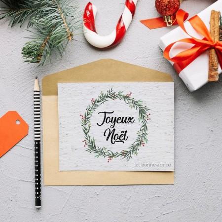 Carte à planter Noël Couronne de gui