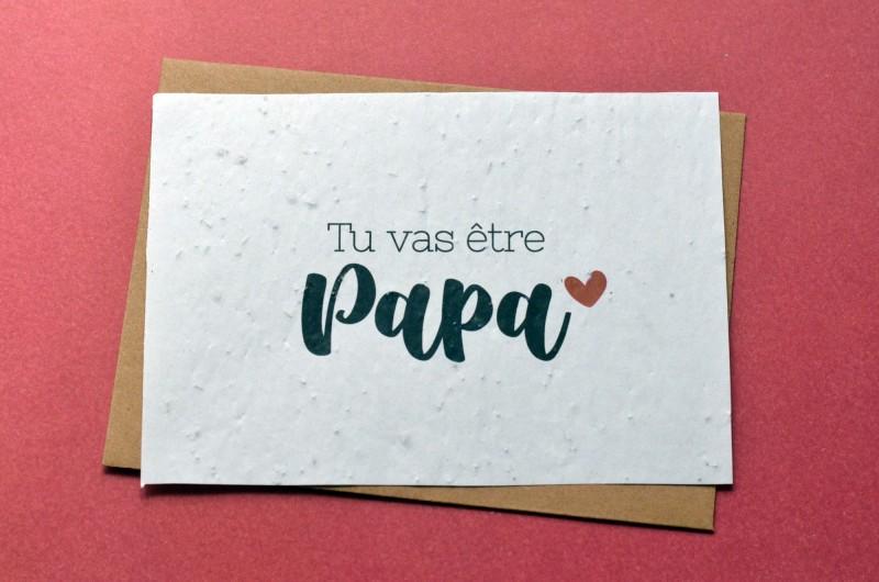 Carte à planter Futur Papa - Annonce Grossesse