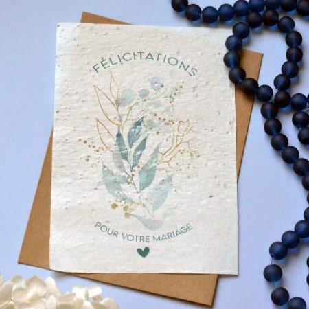 Carte à planter Félicitations Mariage