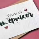 Carte à planter Veux-tu m'épouser ? Mariage