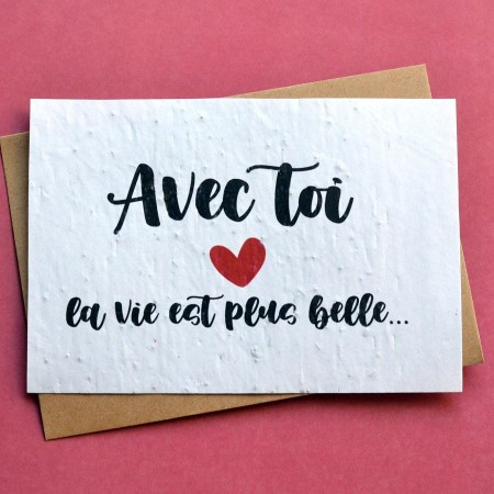 Carte à planter Déclaration d'amour