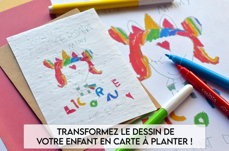 Carte à planter Dessin d'enfant
