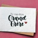 Carte à planter Futur Grand Frère - Annonce Grossesse