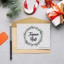 Carte à planter Joyeux Noël - Couronne de gui