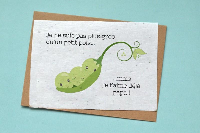 Carte à planter Petit Pois - Annonce Grossesse