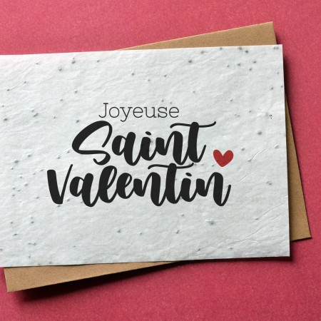 Carte à planter Saint Valentin