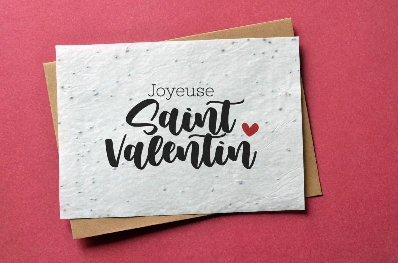 Carte à planter Saint Valentin
