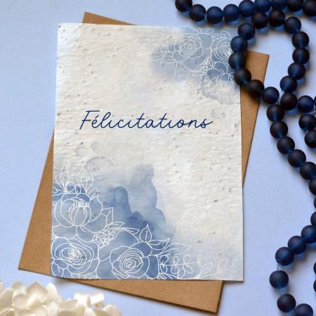 Carte à planter Félicitations aquarelle