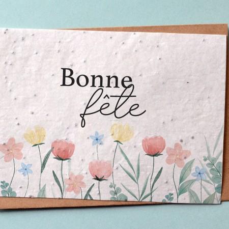 Carte à planter Bonne Fête Fleurs