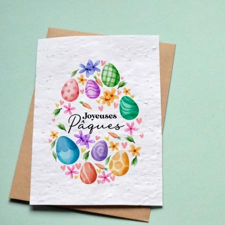 Carte à planter Joyeuses Pâques - Oeufs de Pâques