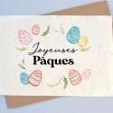 Carte à planter Joyeuses Pâques - couronne d'oeufs