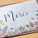 Lot de 100 Cartes à planter Merci Fleurs et Papillons