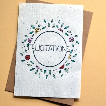 Carte à planter Félicitations Fleurs