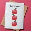 Carte à planter Haut comme 3 pommes - Annonce Grossesse