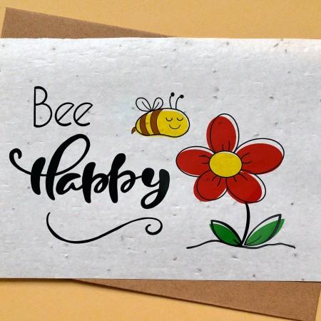 Carte à planter Abeille et fleur