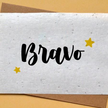 Carte à planter Bravo étoiles