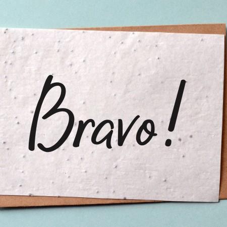 Carte à planter Bravo