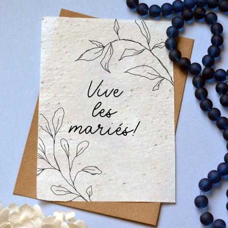 Carte à planter Vive les mariés !