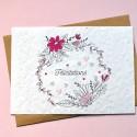 Carte à planter Félicitations Couronne de fleurs