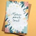Carte à planter Merci pour tout - Pastel