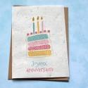 Carte à planter Joyeux Anniversaire Gâteau