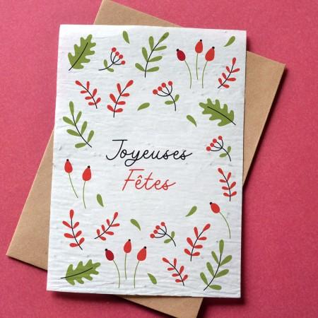 Carte à planter Joyeux Noël - Sapin Aquarelle