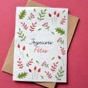 Carte à planter Joyeuses fêtes - Vert et Rouge