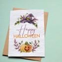 Carte à planter Happy Halloween - Citrouille