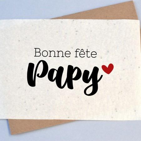 Carte à planter Bonne Fête Papy