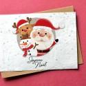 Carte à planter Joyeux Noël - Père Noël