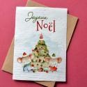 Carte à planter Joyeux Noël - Sapin et Souris