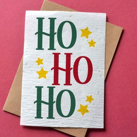 Carte à planter Noël - Ho Ho Ho