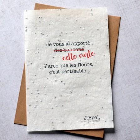 Carte à planter Citation Jacques Brel