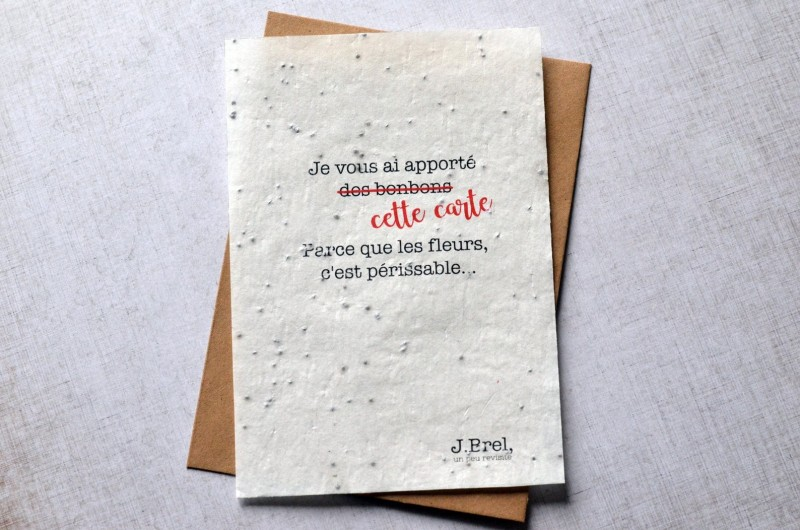 Carte à planter Citation Jacques Brel
