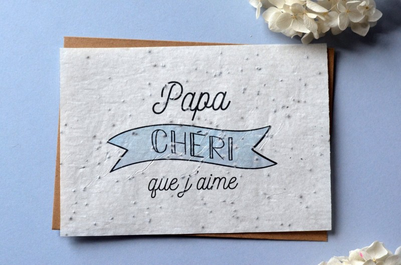 Carte à planter Papa Chéri