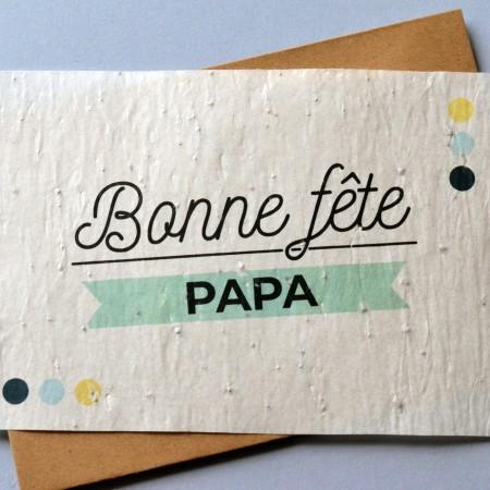 Carte à planter Bonne Fête Papa