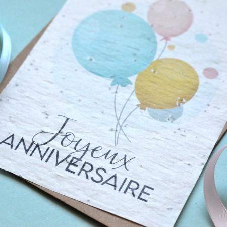 Carte ensemencée anniversaire